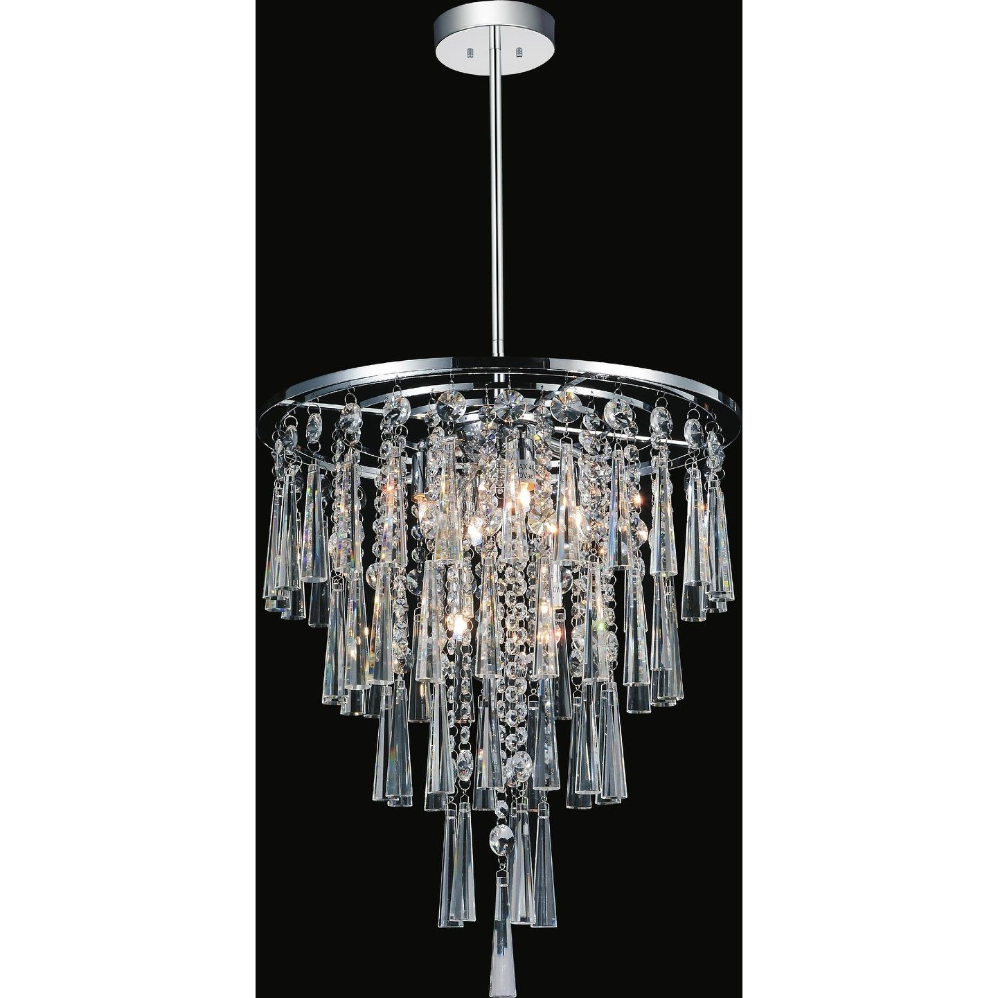 Chrome Stainless Steel Silver 6 Light Chandelier Chandelier