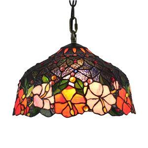 (EU Lager)Anmutige Hängeleuchte Tiffany Stil D30cm 1 Flammig Im Wohnzimmer