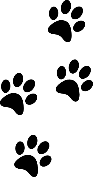 american kennel club canine health foundation clipart best rh pinterest com paw print clip art black and white paw print clip art borders
