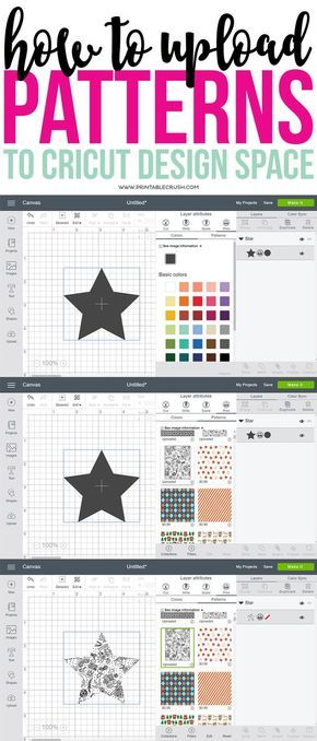 How To Upload Patterns To Cricut Design Space Cricut Design Best Cricut Patterns
