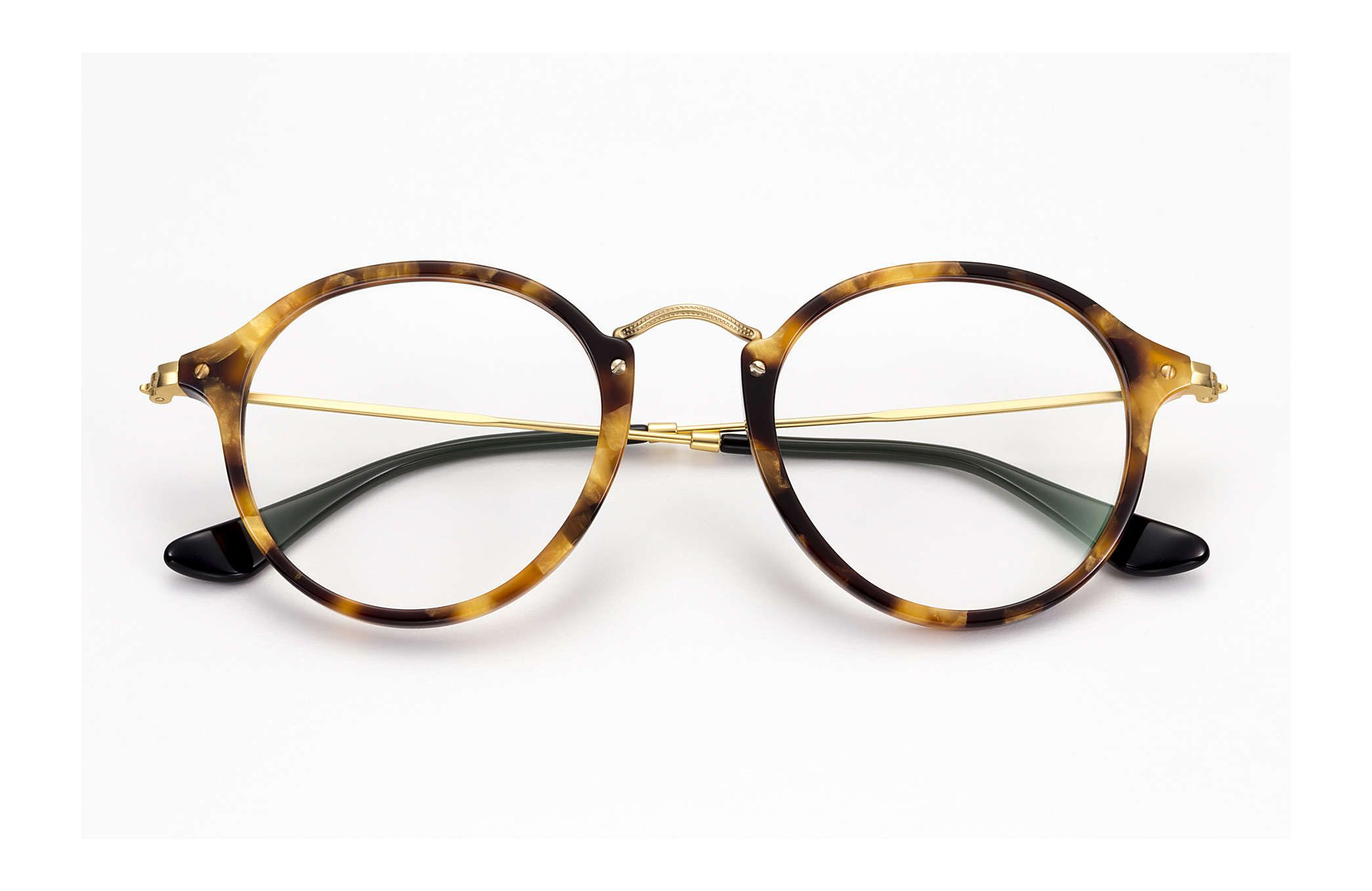 d4c031041c98e Ray-Ban 0RX2447V-ROUND FLECK Tortoise  Gold OPTICAL