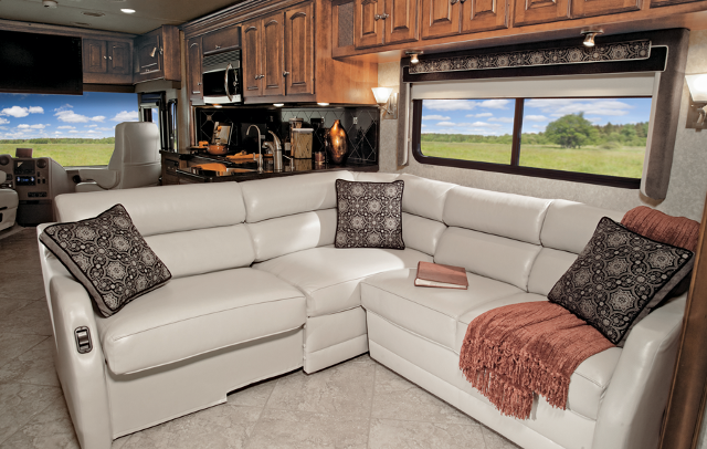 Winnebago Rv Features Extendable Sectional Sofa Photos Living Room