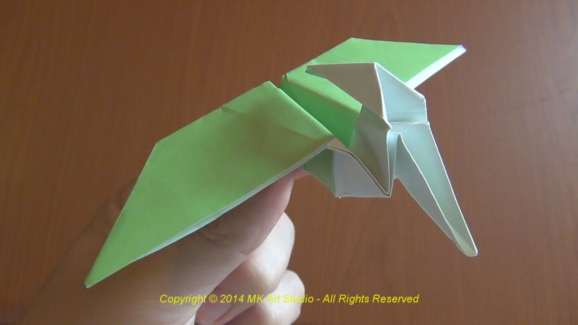 How to Make a Paper Dinosaur / Origami Pterodactyl | cosas ... - photo#3