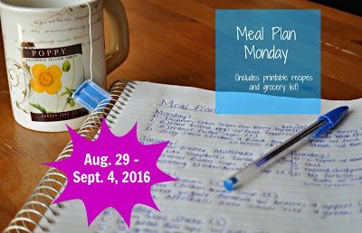 Darcie's Dishes: Meal Plan Monday: 8/29-9/4/16 ~ A one week meal plan that includes all meals, snacks and drinks. It is 100% Trim Healthy Mama compatible and is printable. As always, every meal plan on my site is FREE!