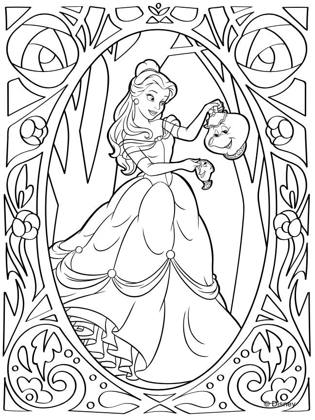 Pin by Emilydenardo on Belle Disney princess coloring