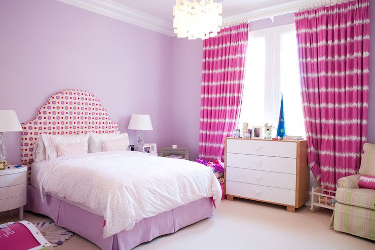 Hot Pink Curtains Lavender Walls White Balance It Out