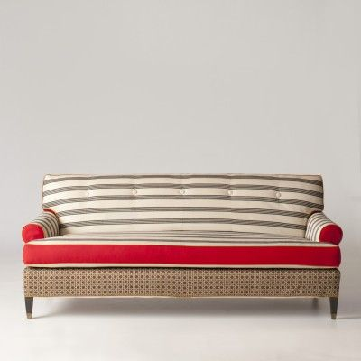 Beckman Sofa Slipcover   Belvedere Print By Adam Arnold At Schoolhouse  Electric
