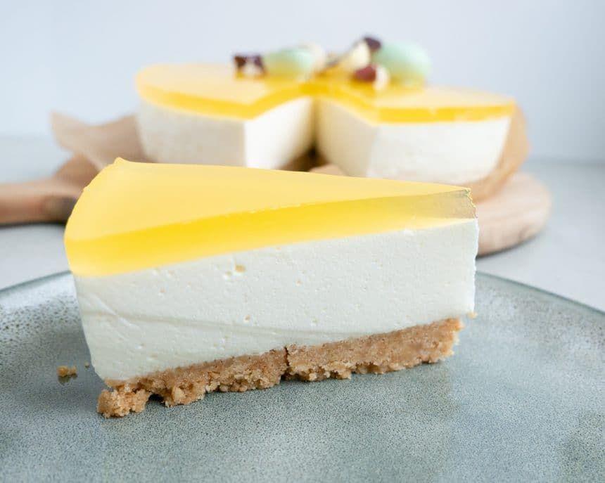 Cheesecake Med Citrongele Opskrift Ostekage Dessert Og Cheesecake Opskrifter