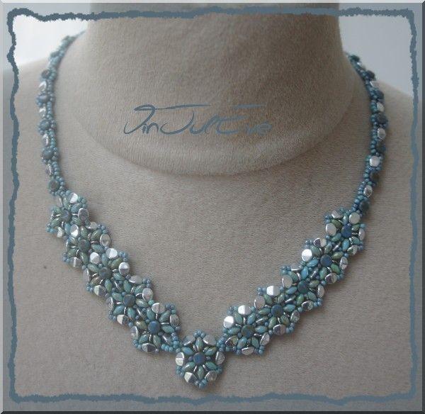 Necklaces, necklace Fleuré is a diagram creation orginale Vinjuleve on DaWanda