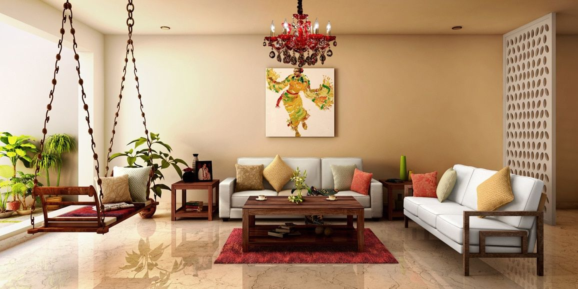 Customize Contemporary Living Room designs online: Buy White ...