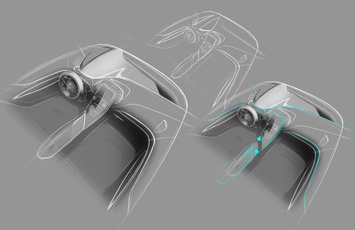 New Renault Scenic Interior Design Sketch by Maxime Pinol | car ...
