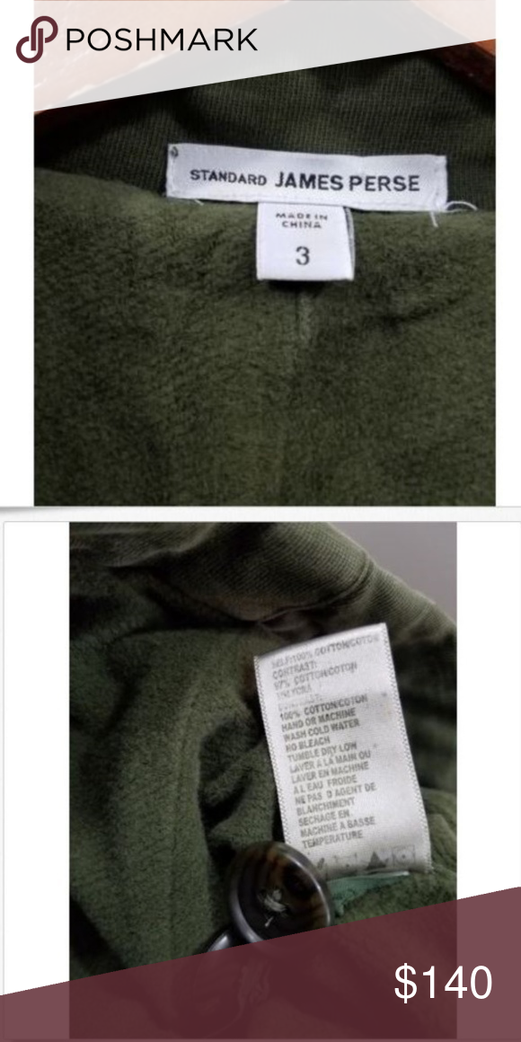 James Perse Green Military Utility Crop Jacket James Perse Green
