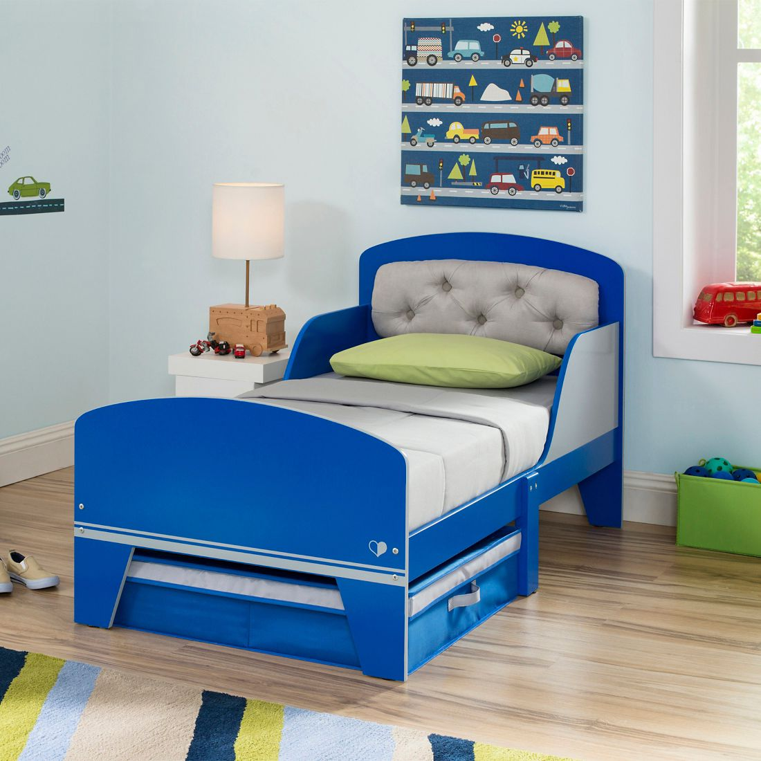 This Darling Jack Jill Toddler Bed Features A Tufted Upholstered