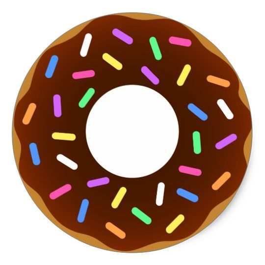 Animated Donut Design Classic Round Sticker Zazzle Com