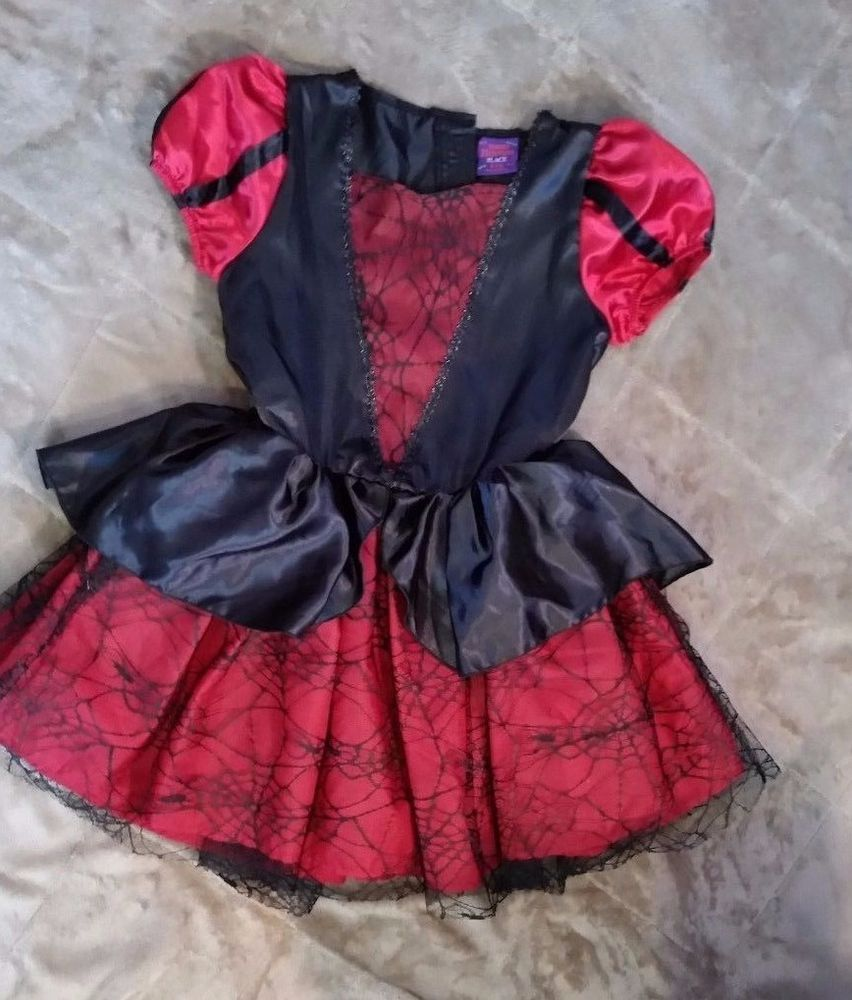 Deluxe Spider Witch Dress HALLOWEEN Costume Red Black The ...