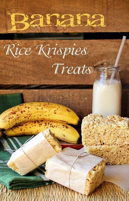 BANANA RICE KRISPIES TREATS - Sweet Southern Blue #ricekrispiestreats