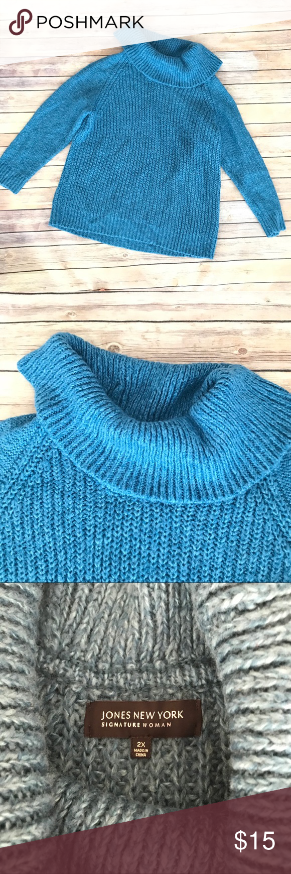 b911c3f93b Jones New York Woman Cowl Neck Sweater This sweater is a heavy knit  material and it will keep you nice and warm during the winter months!