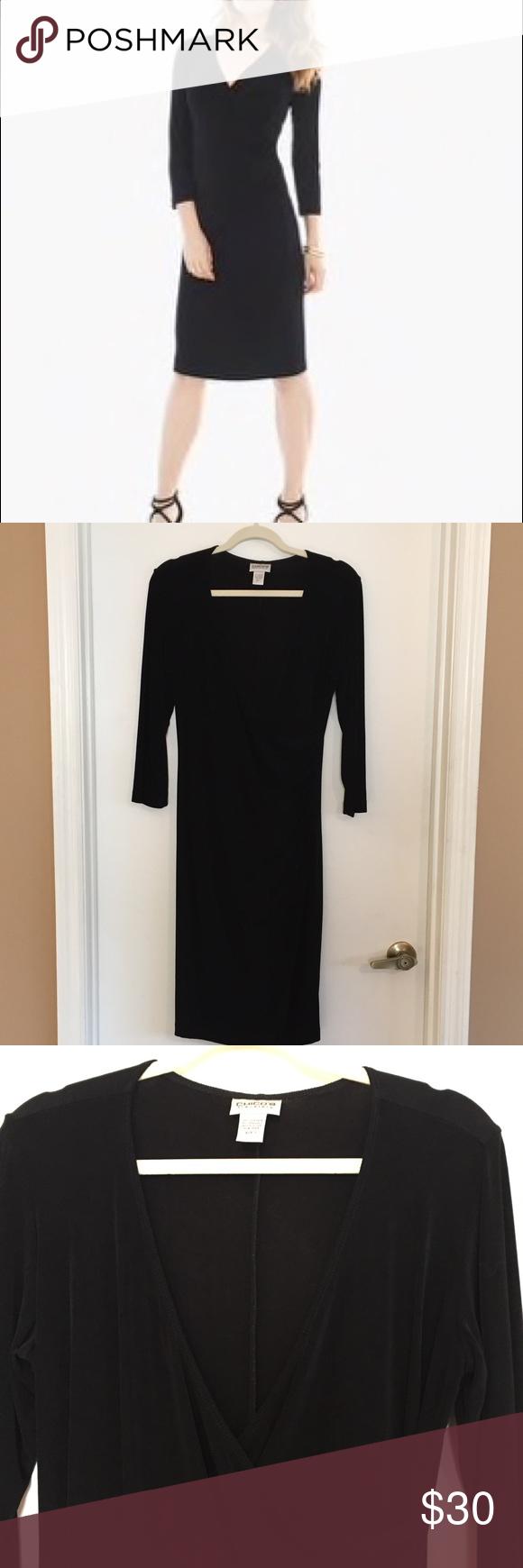 Chicous travelers black wrap dress size or m wrap dresses