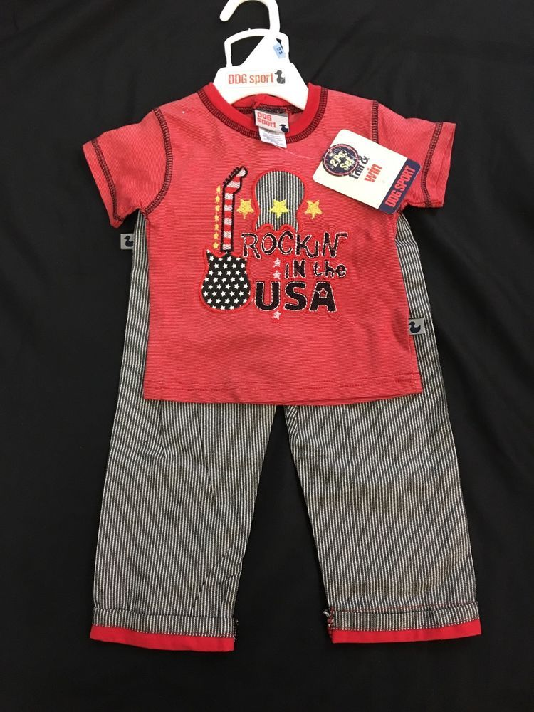 2f05081b176e DDG Sport Baby Boys clothes 12 months 2-Piece Outfit red cotton ...