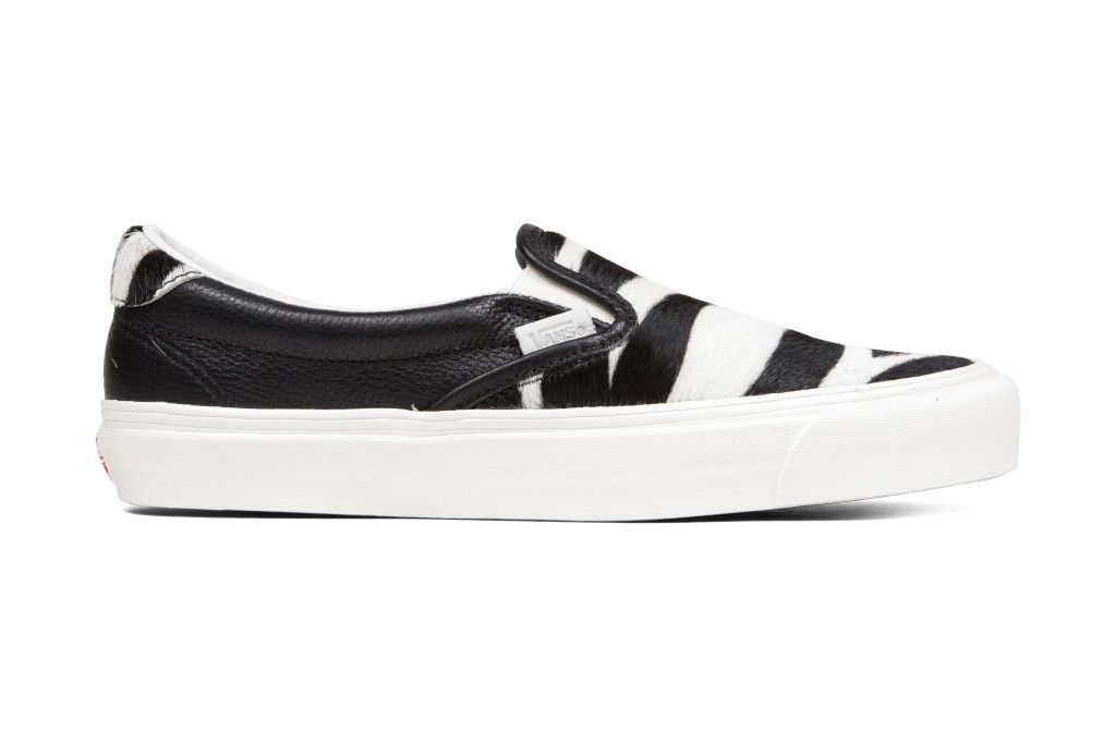 Vans Vault Premium Leather/Pony Hair OG Slip-On 59 - Zebra