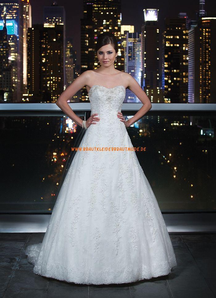 2014 Sexy Brautkleider A-Linie aus Satin und Organza   Brautkleider ...