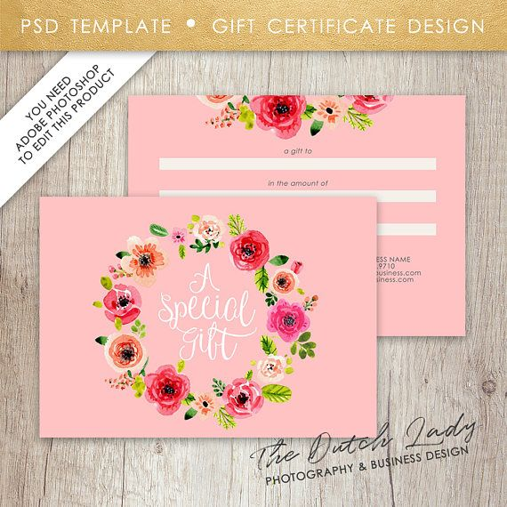Gift certificate card template design 14 instant download gift certificate card template design 14 instant download yelopaper Gallery