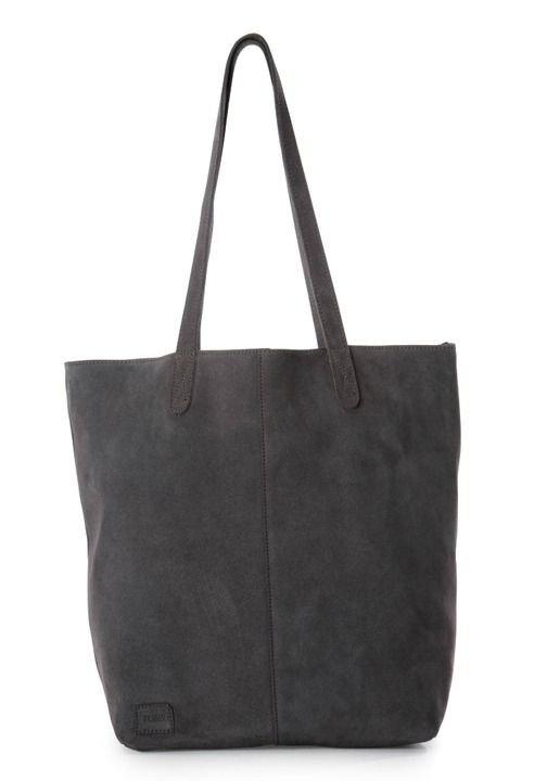 Designed in stylish soft suede, this elegant tote includes a detachable pouch for organizing your essentials for those days when you're on-the-go.
