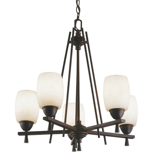 Five-Light Chandelier by Lithonia