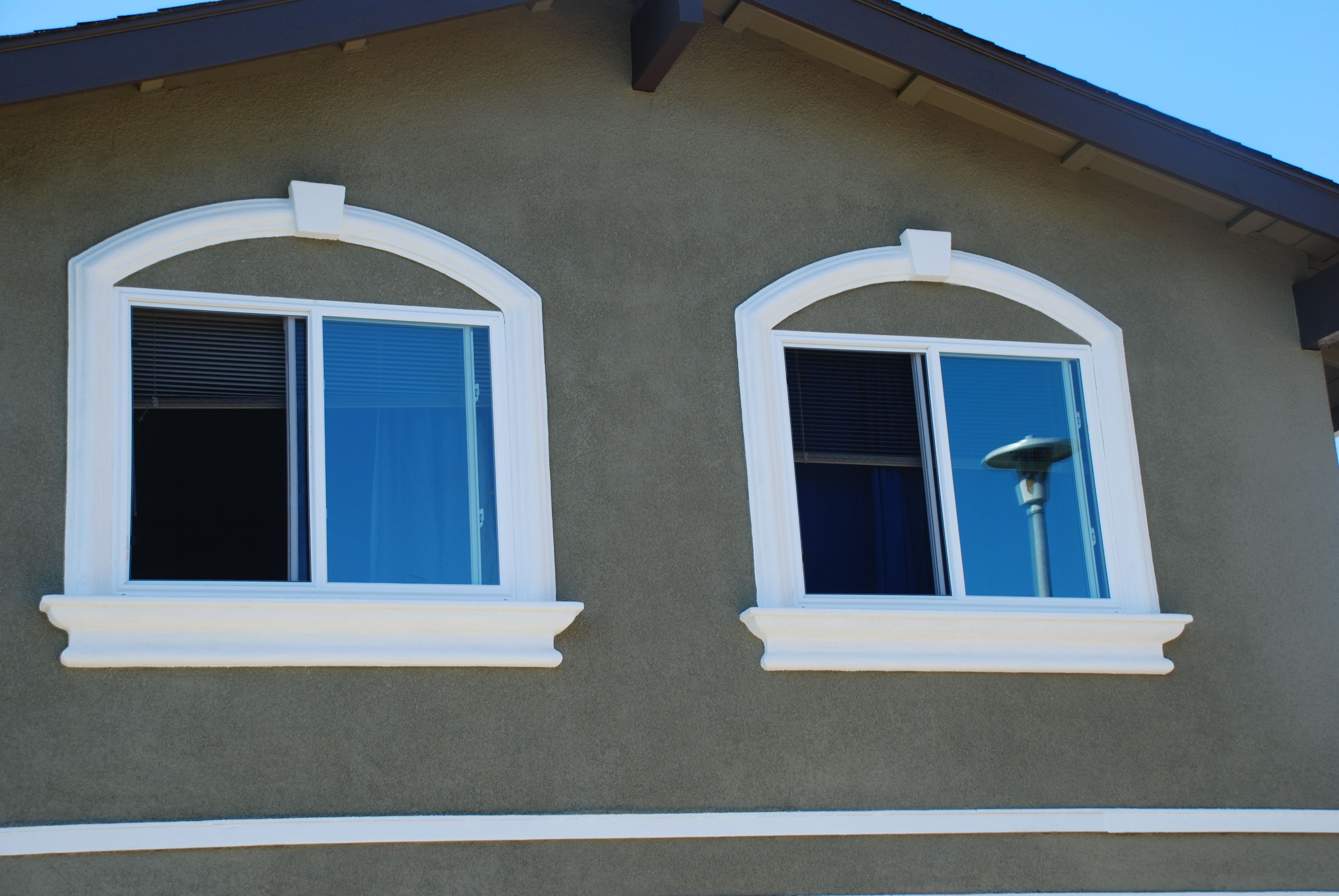 Brilliant Exterior Window Trim Stucco Finally The Final It Really
