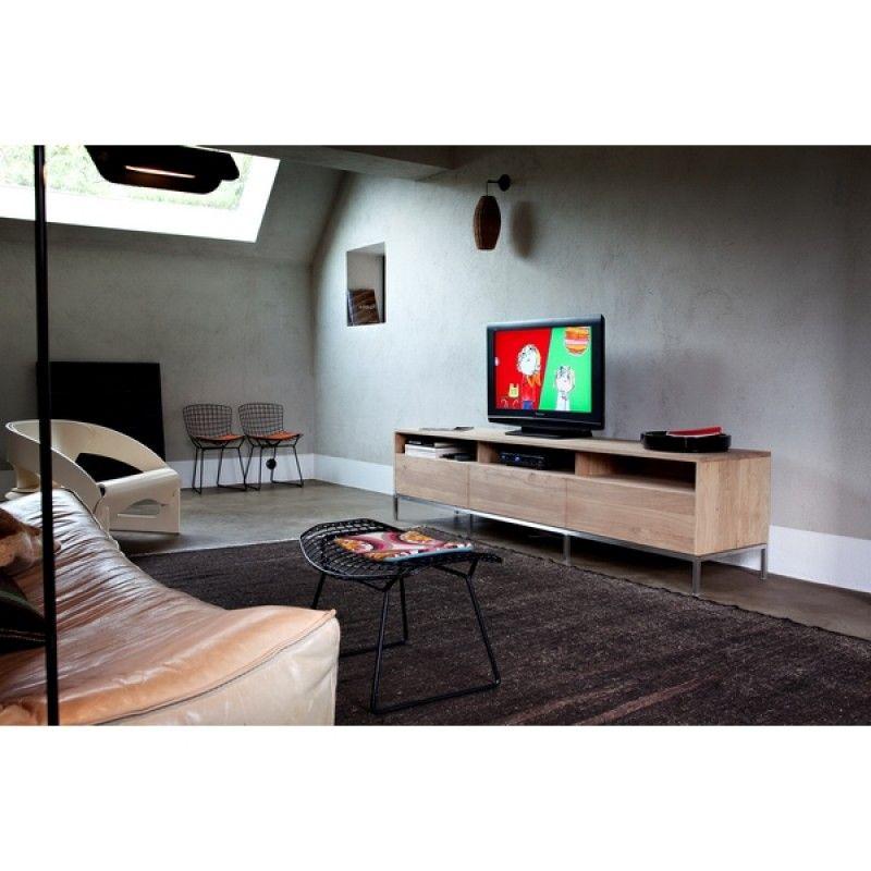 meuble tv chene massif ligna ethnicraft