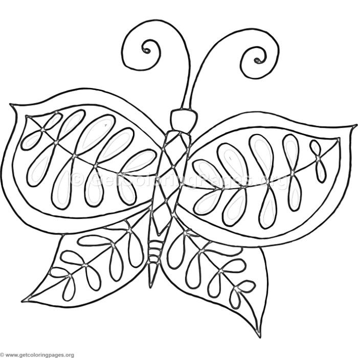 Free Download 4 Fantasy Flower Butterfly Coloring Pages Coloring
