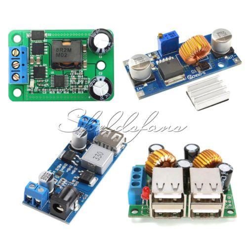 Details about 4-USB Port/ XL4015 DC-DC 12V/24V to 5V 5A Buck