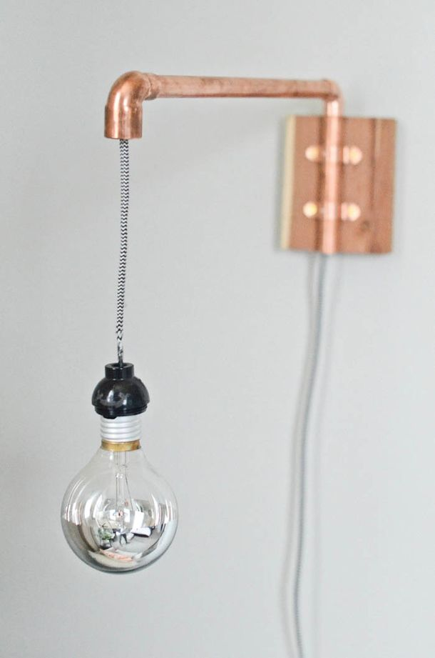Transformed :: Copper Pipe Wall Sconce | Wall sconces, Pipes and Walls