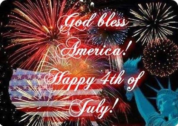 Happy 4th of July Quotes, Sayings with Fireworks Background Pictures 2014