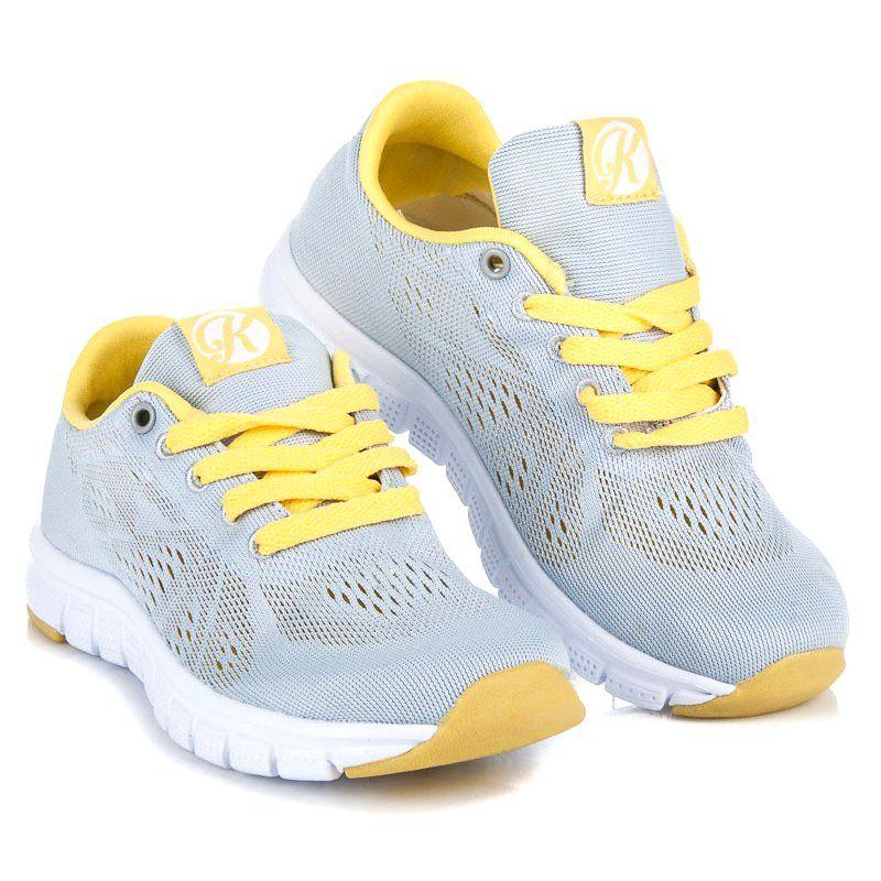 Kylie Sznurowane Obuwie Z Siateczka Szare Nike Air Max Air Max Sneakers Sketchers Sneakers
