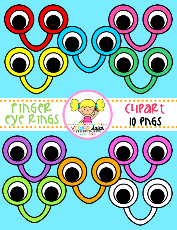 Finger Eye Rings clipart for teachers: Great Reading Pointers for Kindergarten-1st Graders!