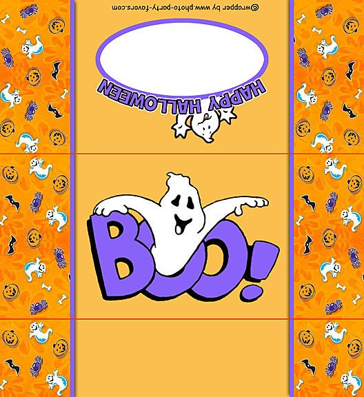 Free Printable Halloween Ghost Candy Bar Wrapper, ready to - candy bar wrapper template