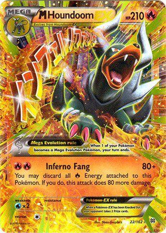 Pokemon Mega Houndoom Ex 22 162 Xy Breakthrough Holo