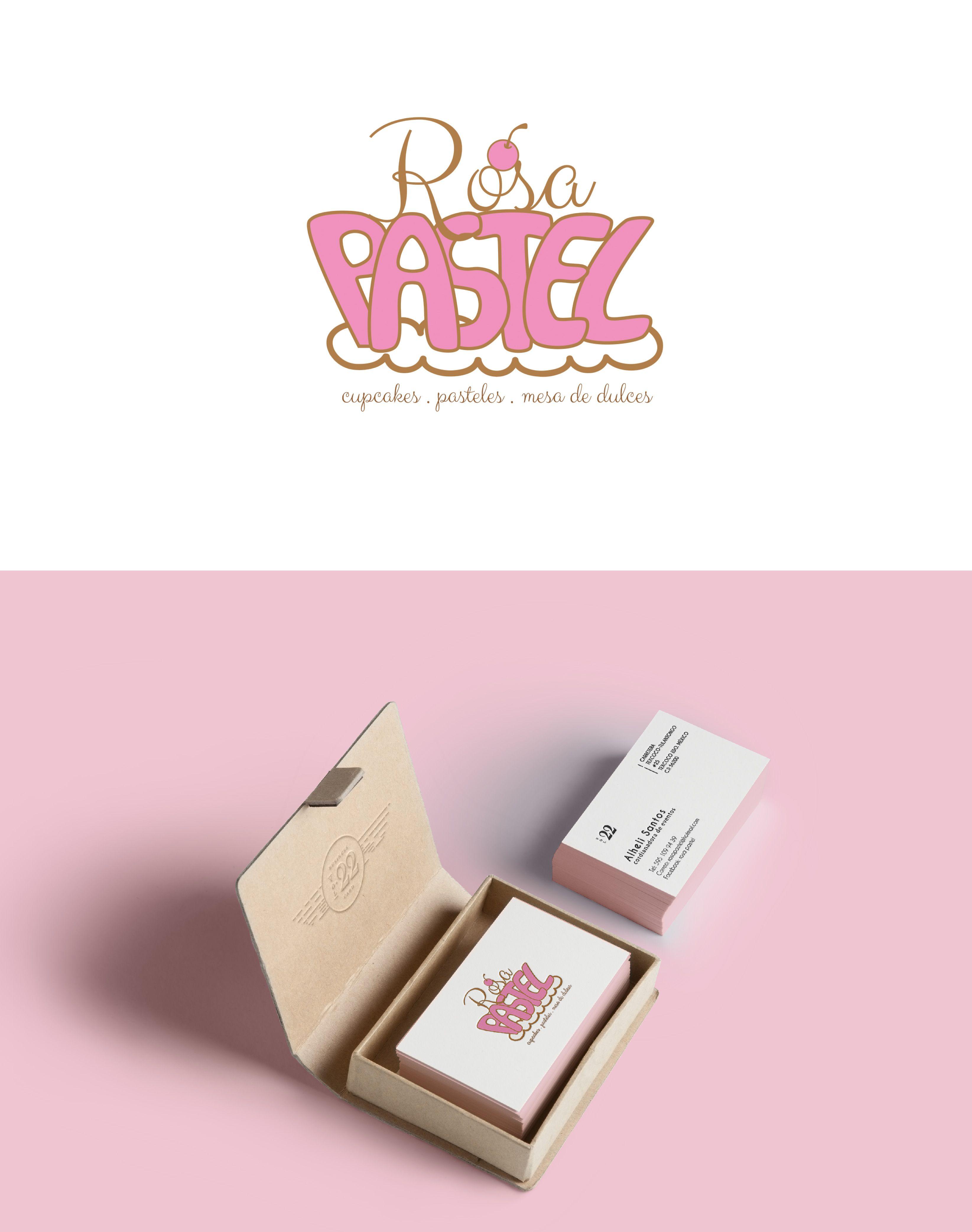 logotipo para rosa pastel organización de eventos. ©ALHELI SANTOS ...