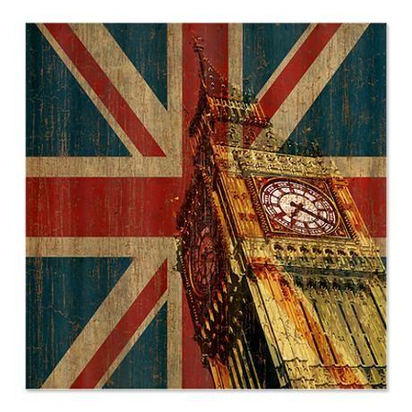 Vintage Union Jack Shower Curtain