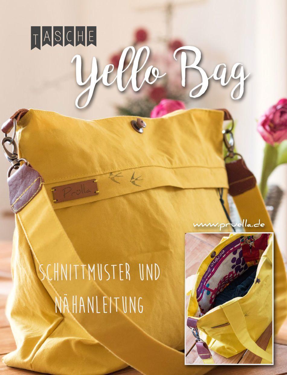 Prülla - Schultertasche yello bag - Schnittmuster und Nähanleitung ...
