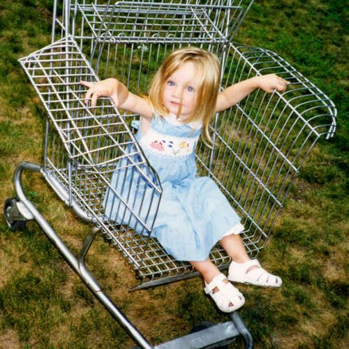 Recycled shopping cart chair!