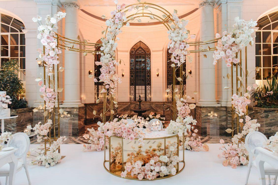 Modern Princess | Wedding venue decorations, Elegant ...