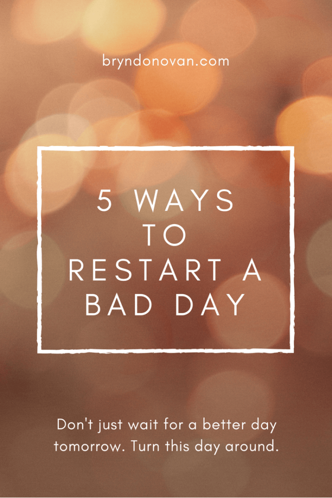 how to get over a bad mood