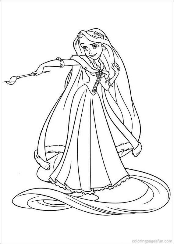 Tangled Rapunzel Coloring Pages 46 571x800