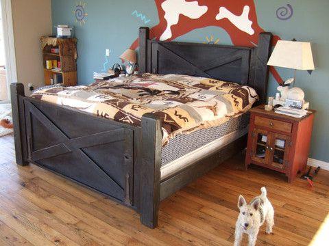 Barn Door Bed | Door bed, Barn doors and Beams