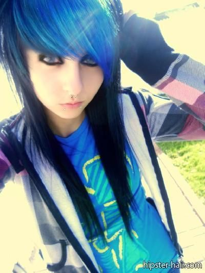 New Era of Style: Blue Emo Hairstyles