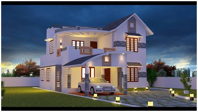 4 Bedroom House Plans 4 Bedroom House Plans In Kerala 4 Bedroom 2 Story House Plans Kerala Style Kerala House Design Duplex House Design Modern House Design