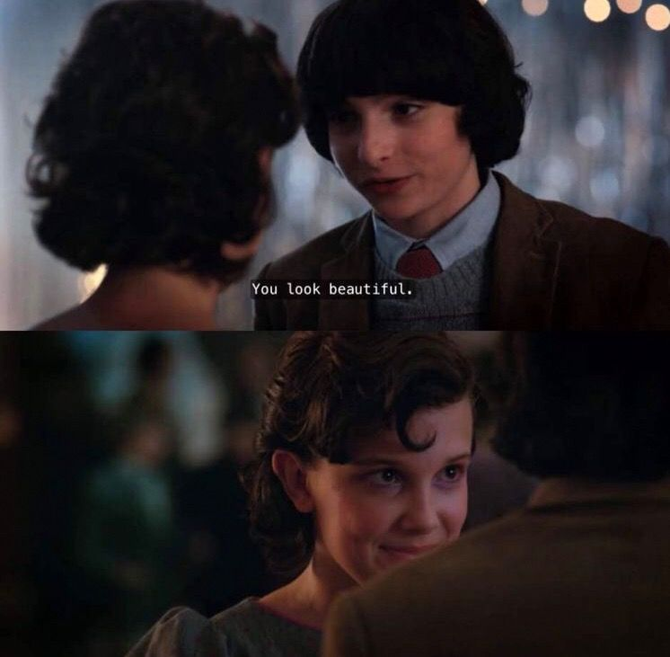 Mike And Eleven At The Snow Ball Dance Stranger Things 2