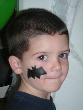 Bat Cheek Design Face Painting